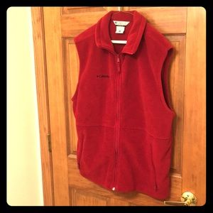 Columbia vest maroon men's Large